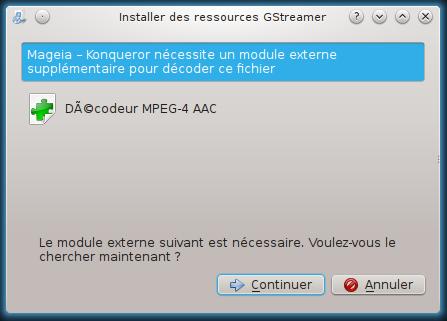greffon décodeur mpeg-4 aac