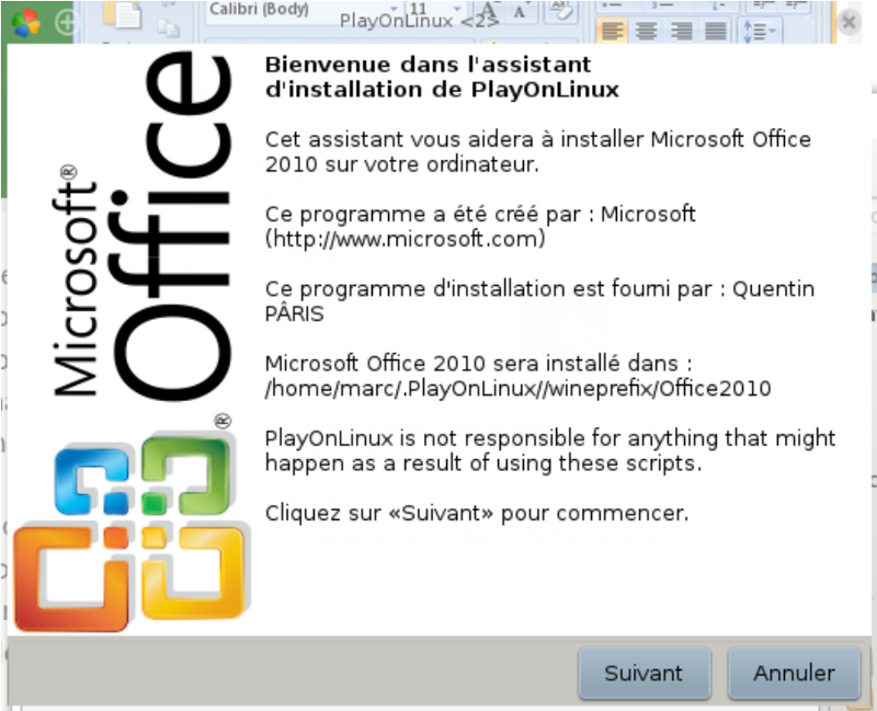Installer Microsoft Office facilement sur Mageia avec