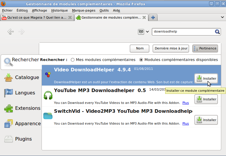 module complementaire firefox downloadhelper
