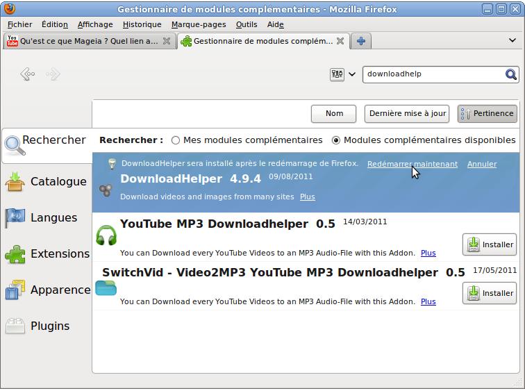 module firefox downloadhelper
